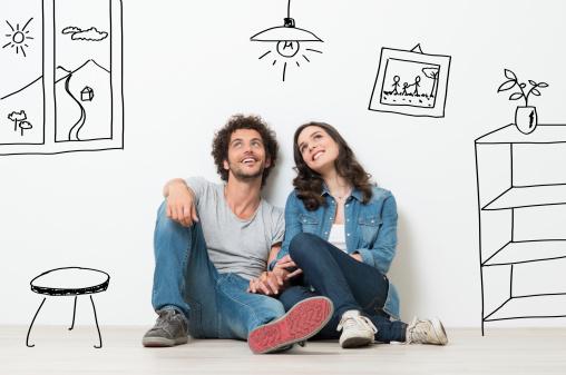 Happy Couple Dream New Home Stok Fotoğraflar & 20'lerinde'nin Daha Fazla Resimleri