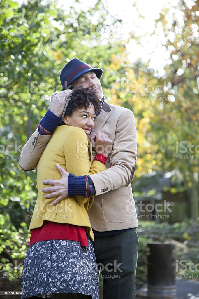 Happy Couple Embracing royalty-free stock photo