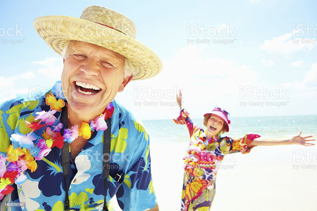 Happy couple enjoying their retirement stock photo