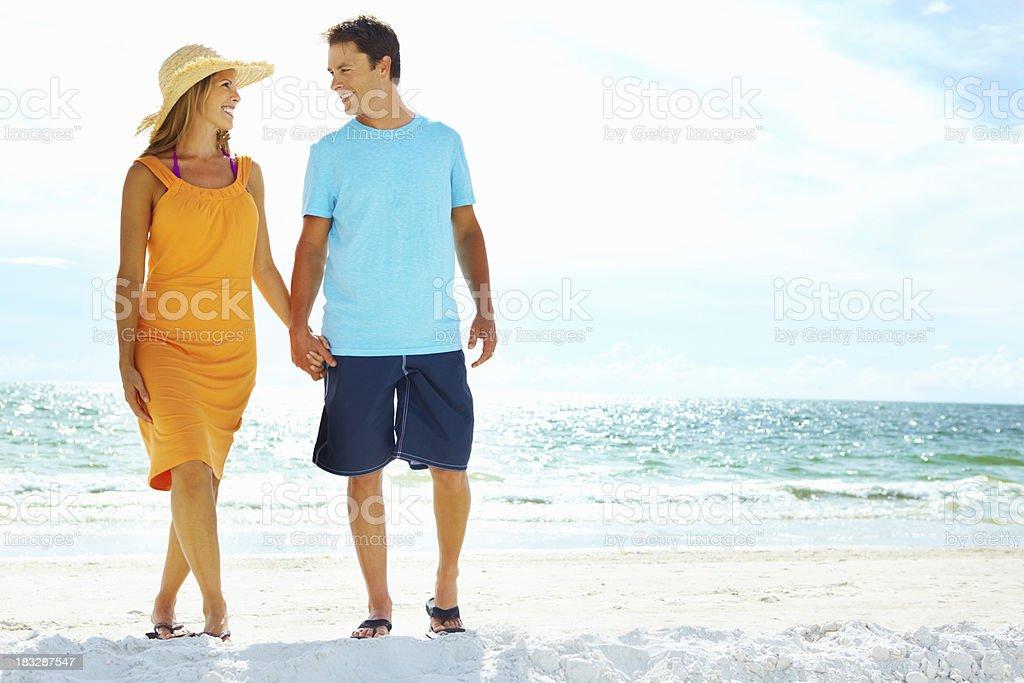 Happy couple enjoying their vacation royalty-free stock photo