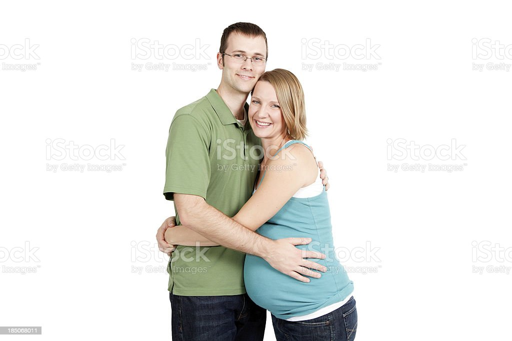 Happy Couple Expecting a Baby royalty-free stock photo