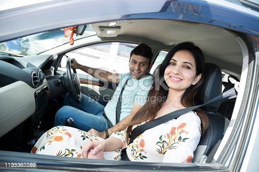 628541610istockphoto Happy couple going on a road trip - Stock image 1133362289