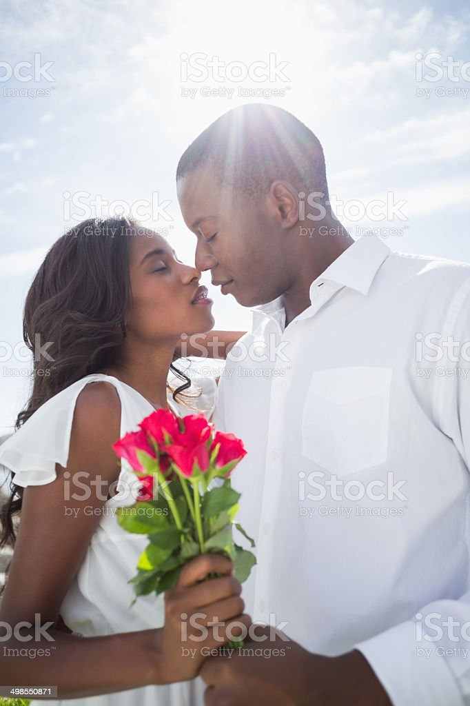 Happy couple having a romantic day in the country royalty-free stock photo