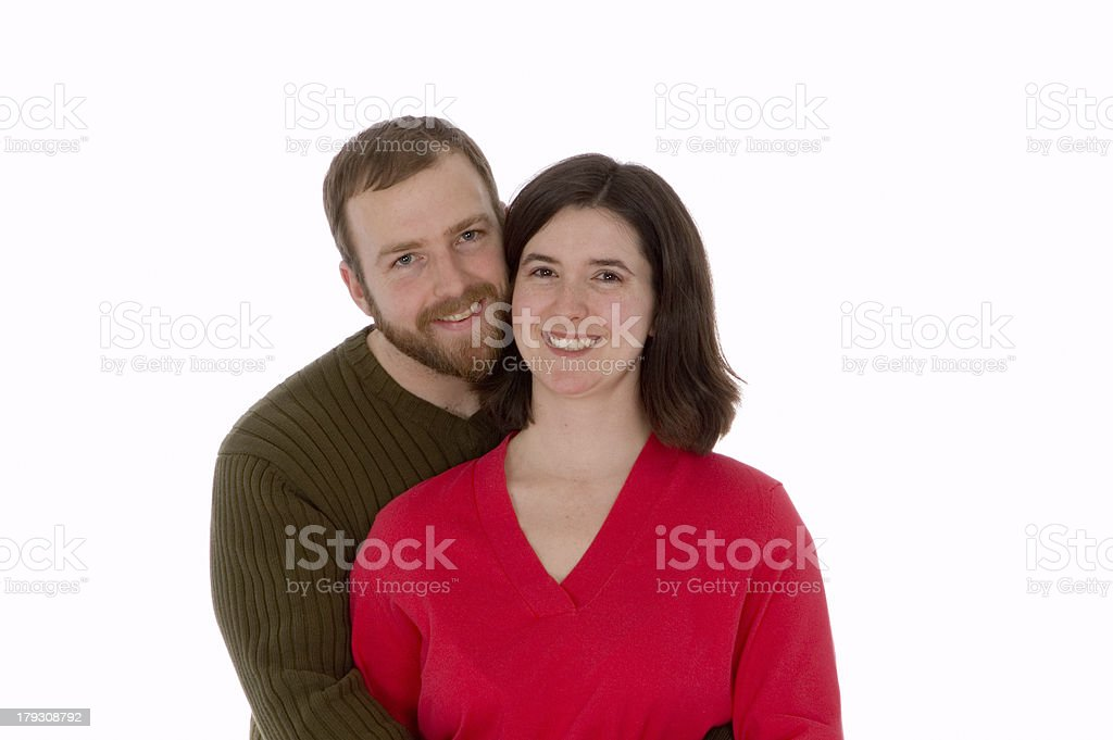 Happy Couple Hugging and Smiling royalty-free stock photo