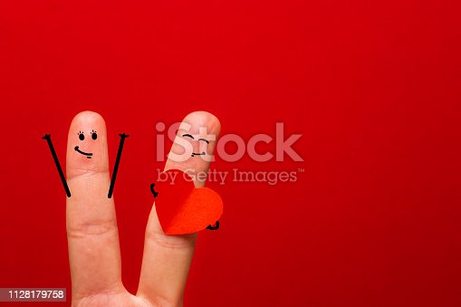 istock A happy couple in love celebrating Valentine day - Image 1128179758