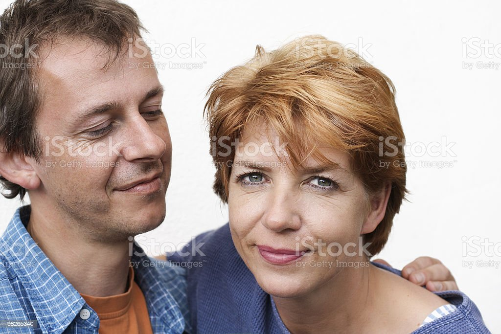 Happy couple, looking at her royalty-free stock photo