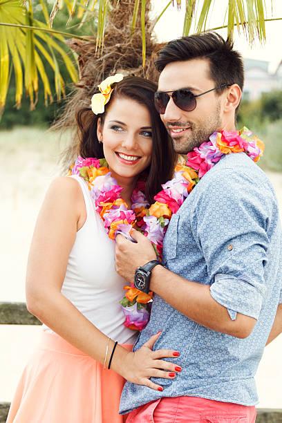 Szczęśliwa para na wakacje – zdjęcie