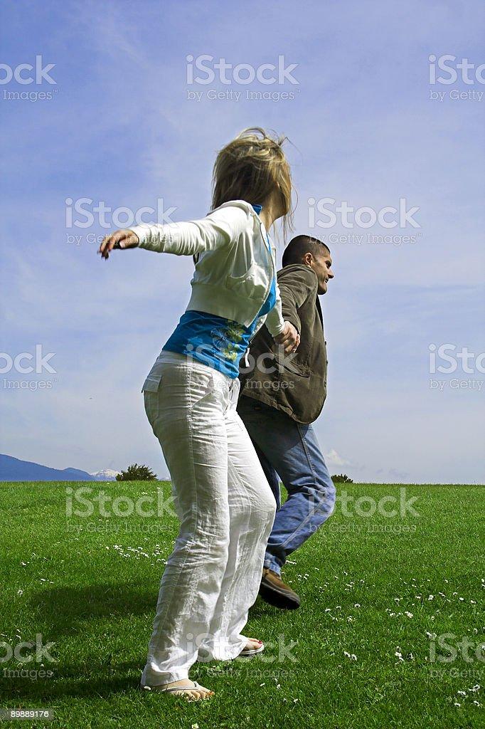 happy couple outdoor royalty-free stock photo