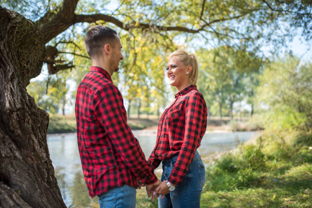 happy couple - dtephoto stock photos and pictures