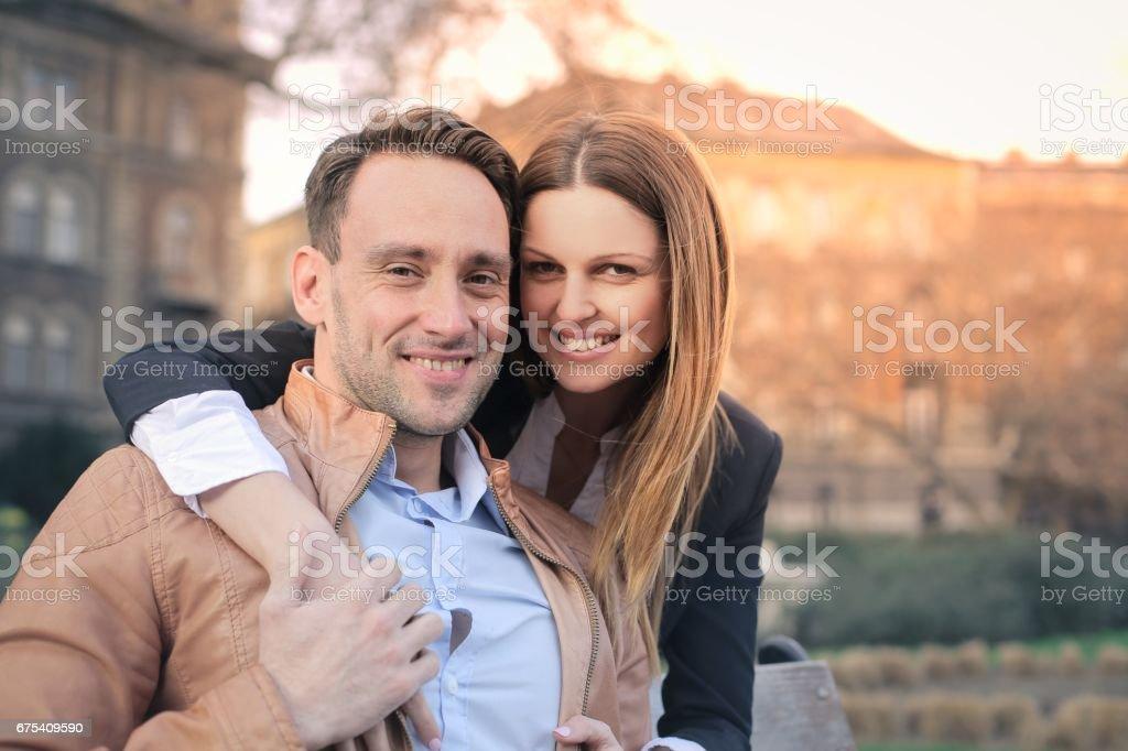Mutlu çift royalty-free stock photo