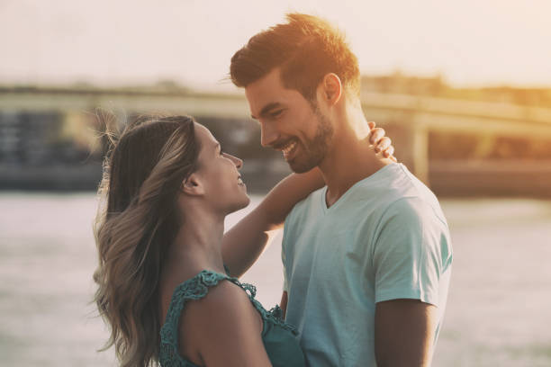 happy couple - falling in love stock pictures, royalty-free photos & images