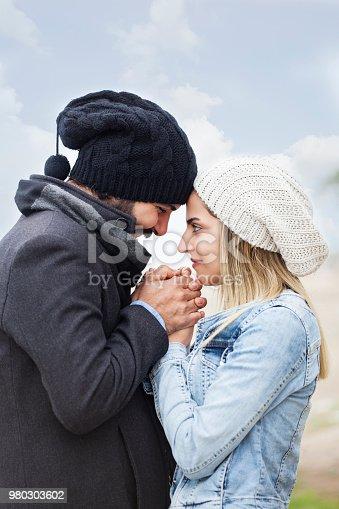 Happy couple in couple