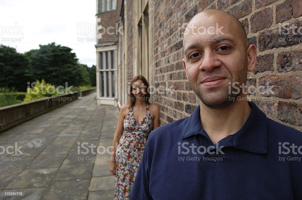 happy couple series royalty-free stock photo