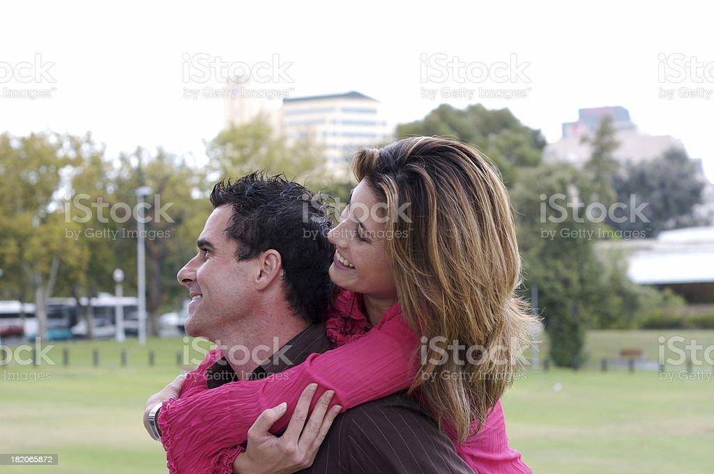Happy couple series stock photo