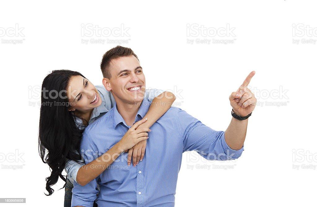 happy couple smile stock photo