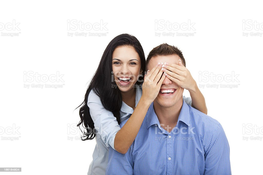 happy couple smile royalty-free stock photo