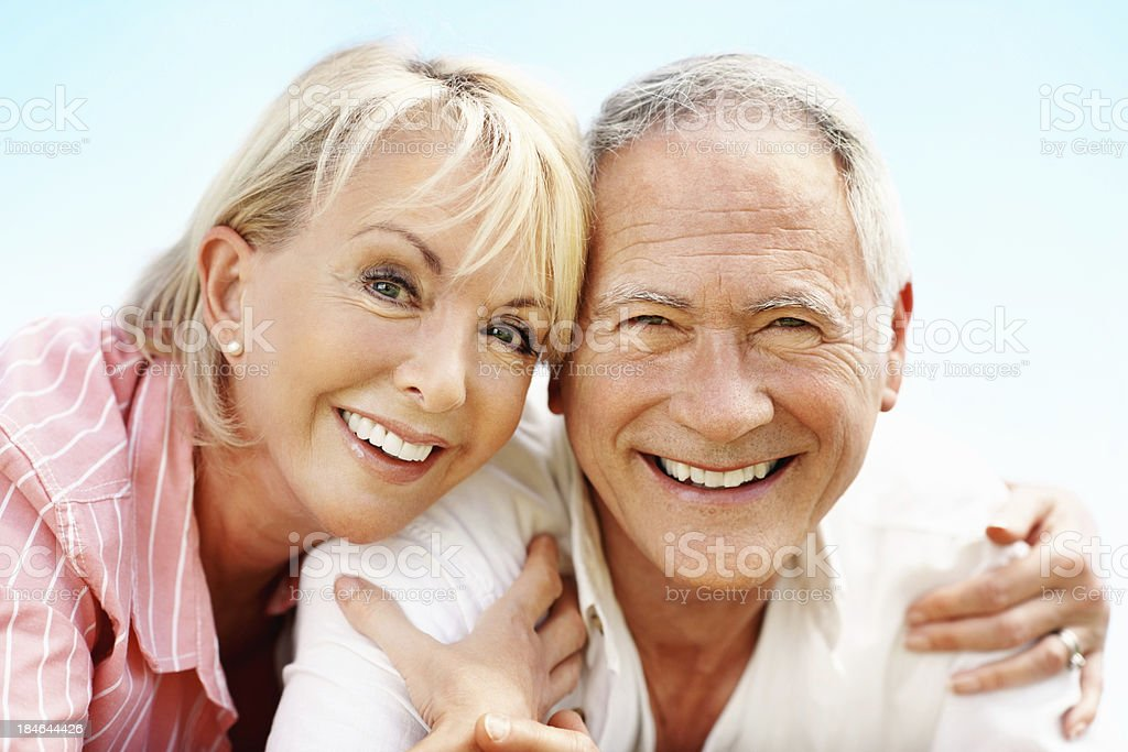 Happy couple smiling together royalty-free stock photo
