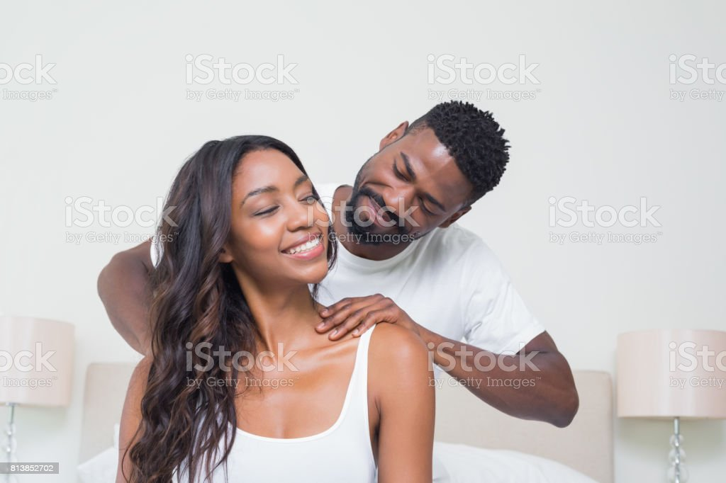 Happy couple spending time together stock photo