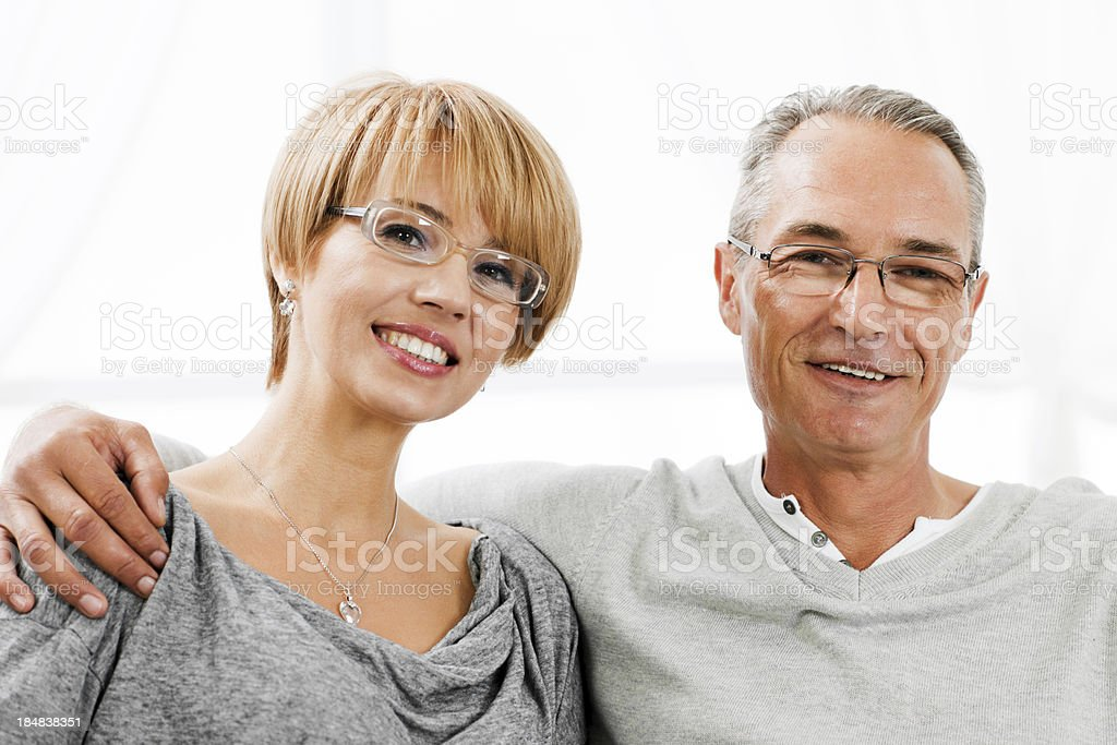 Happy couple together at home. royalty-free stock photo