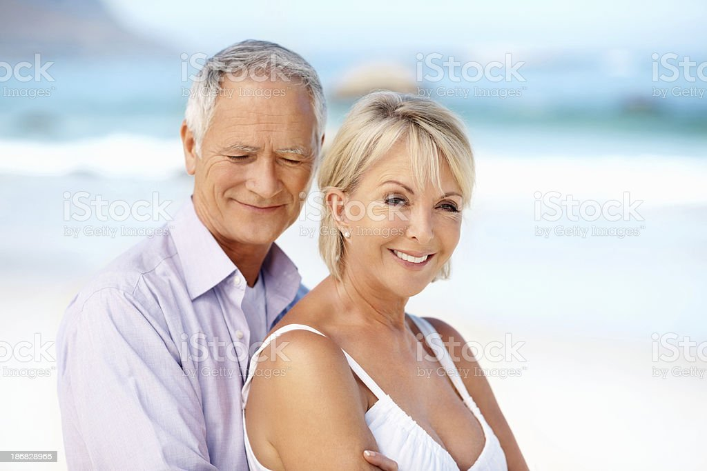 Happy couple together stock photo