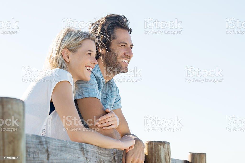 Happy couple vision stock photo