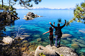 A photo of Emerald Bay in Lake Tahoe.