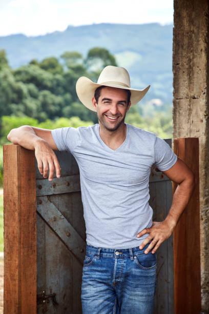 Glücklich Cowboy Geck – Foto