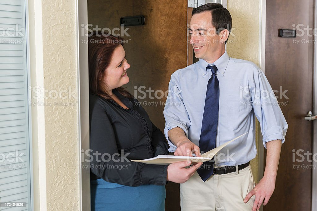Happy Coworkers royalty-free stock photo