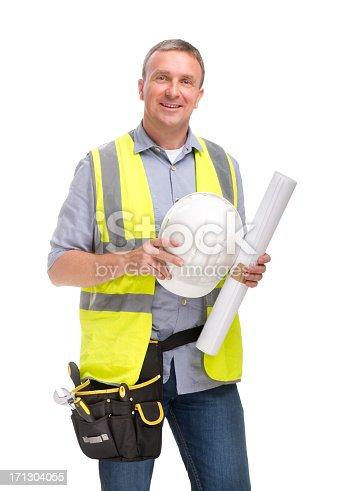 smiling craftsman looking to camera
