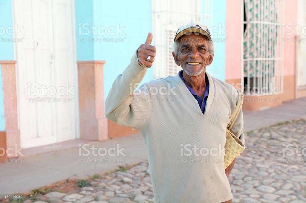 Happy Cuban royalty-free stock photo