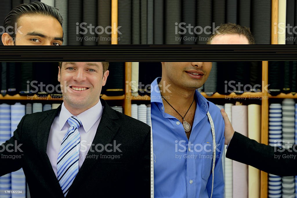 Happy Customer and Tailor royalty-free stock photo
