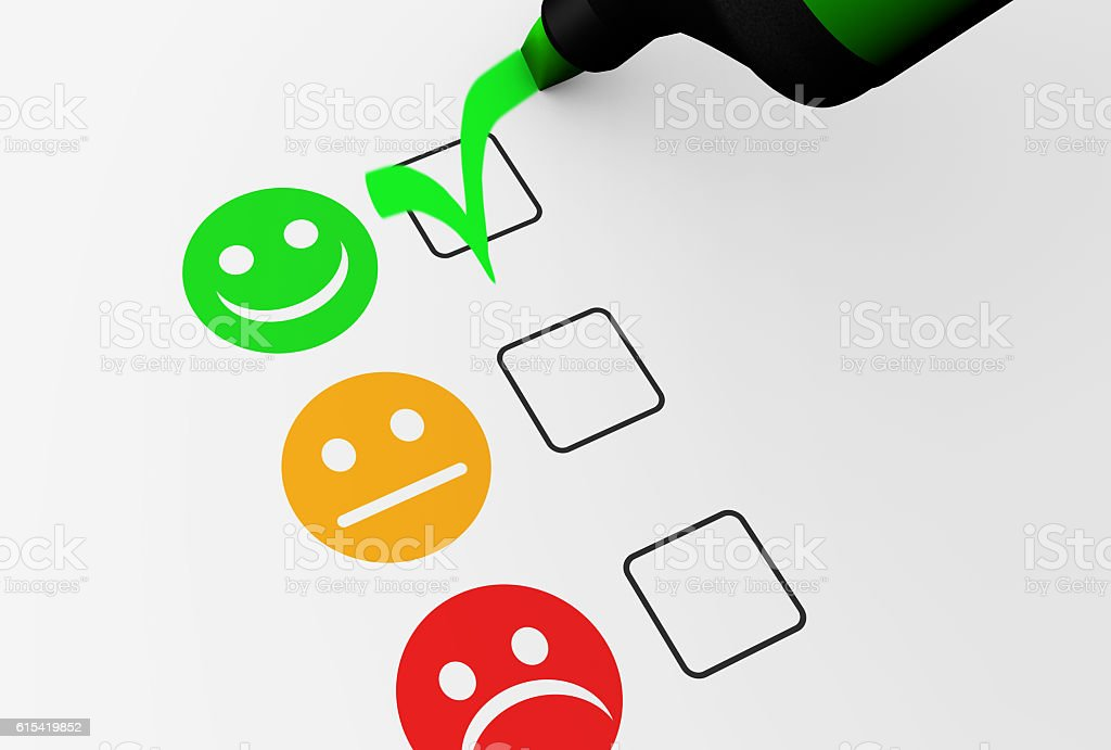 Happy Customer Feedback Business Quality stock photo