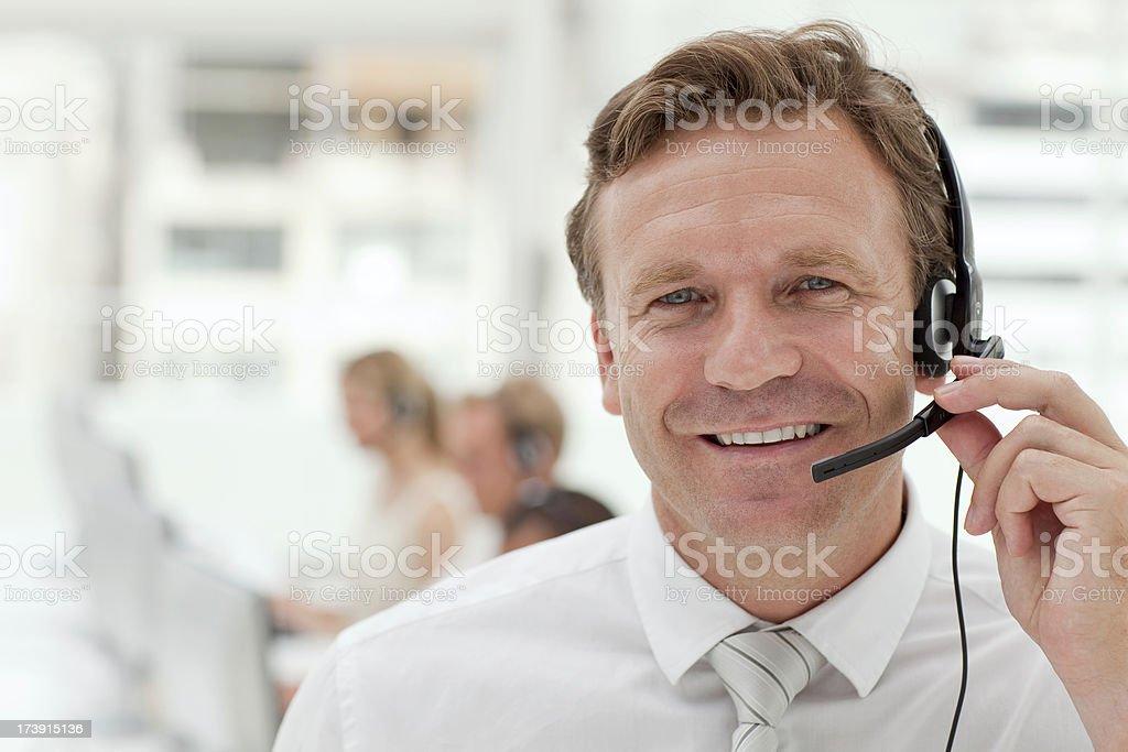 Happy customer service agent. royalty-free stock photo