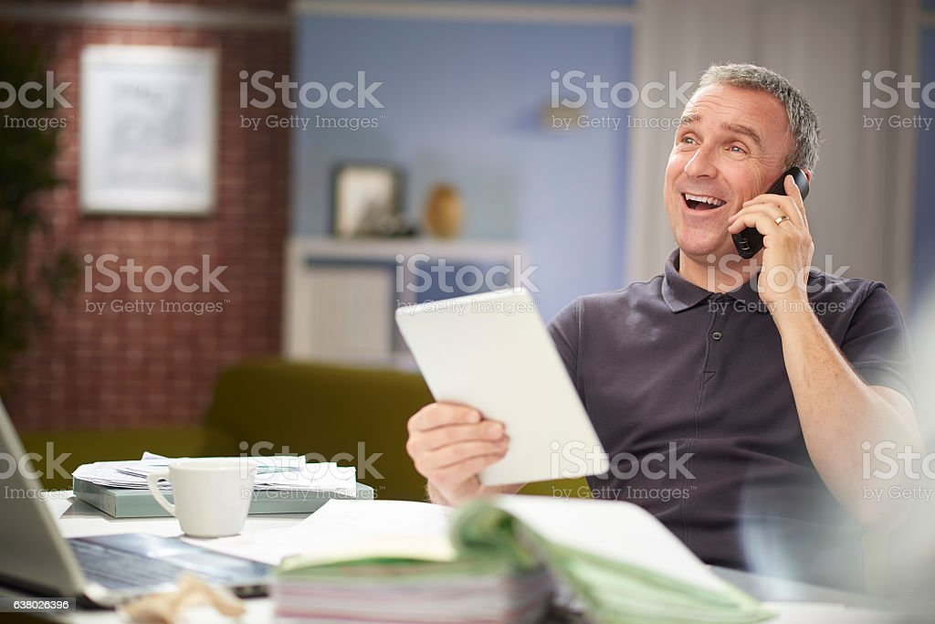 happy customer service chat stock photo
