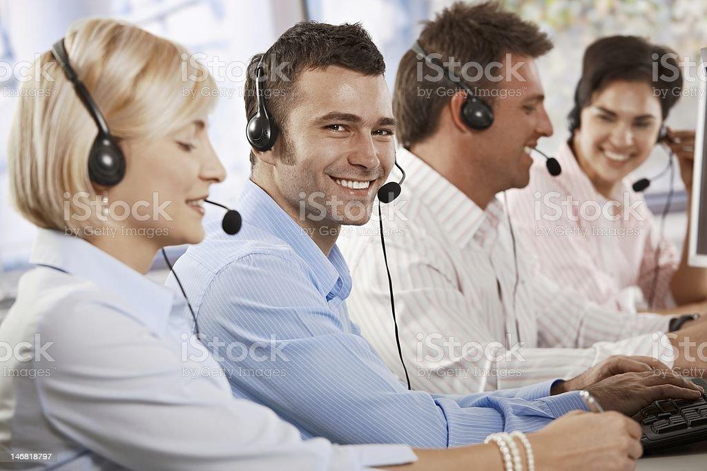 Happy customer service operator royalty-free stock photo