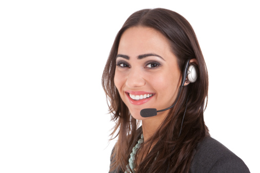 istock A happy customer service representative wearing a headset 123467179