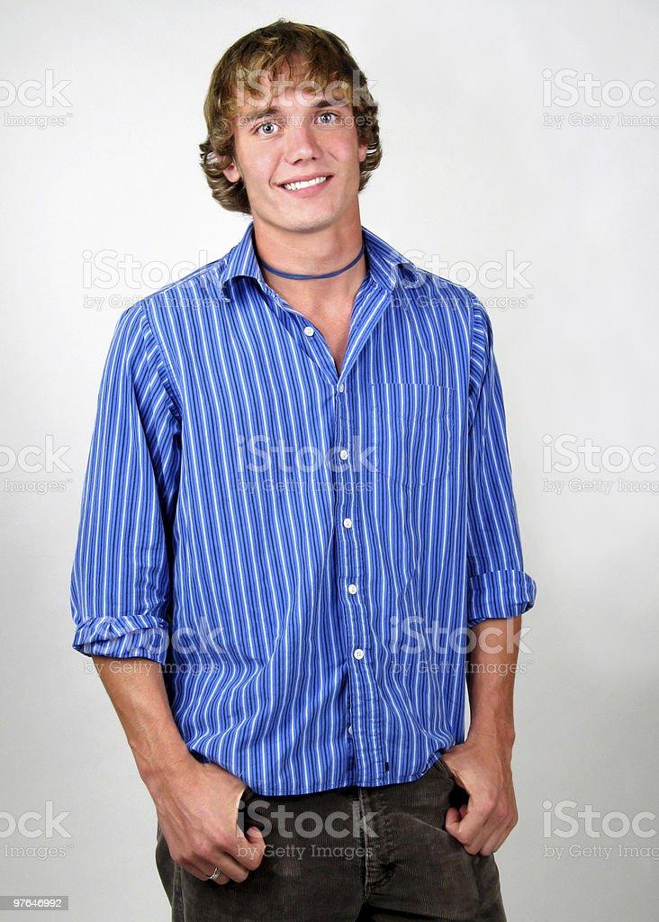 happy cute guy royalty-free stock photo