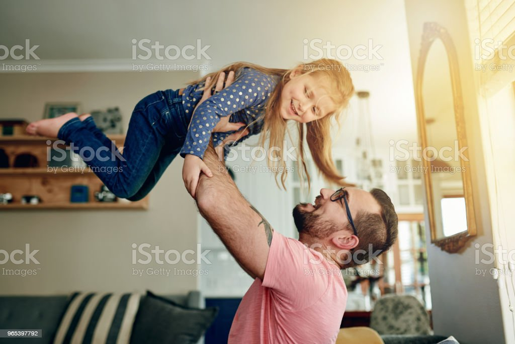 Happy dads raise happy daughters royalty-free stock photo