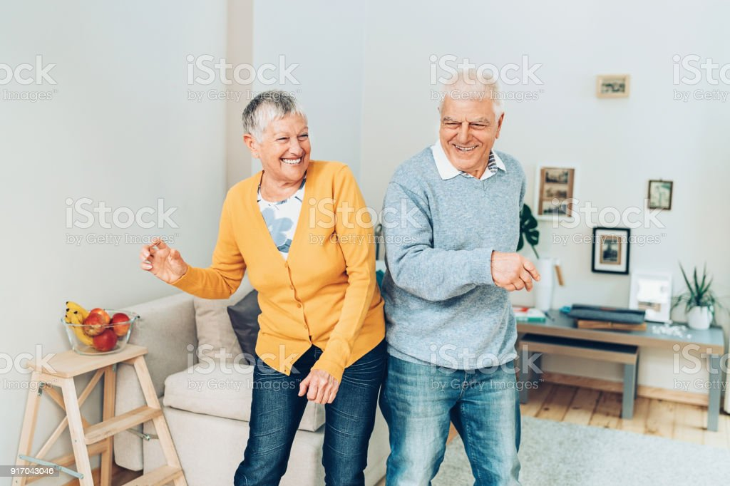 Happy dance stock photo