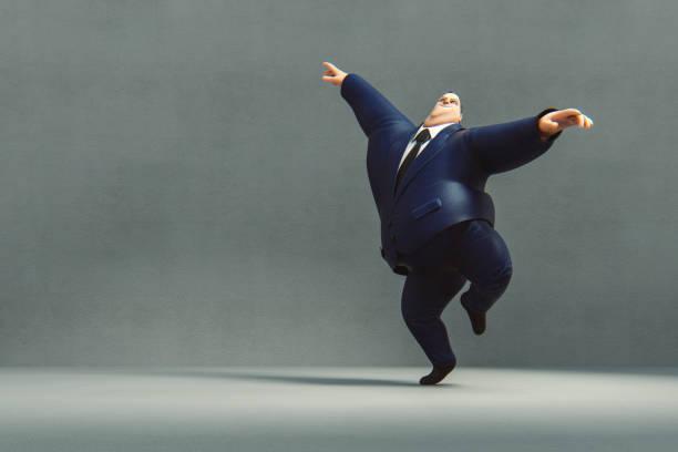 Glücklich tanzende Geschäftsmann – Foto