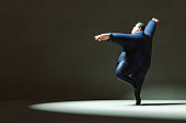 Happy dancing businessman
