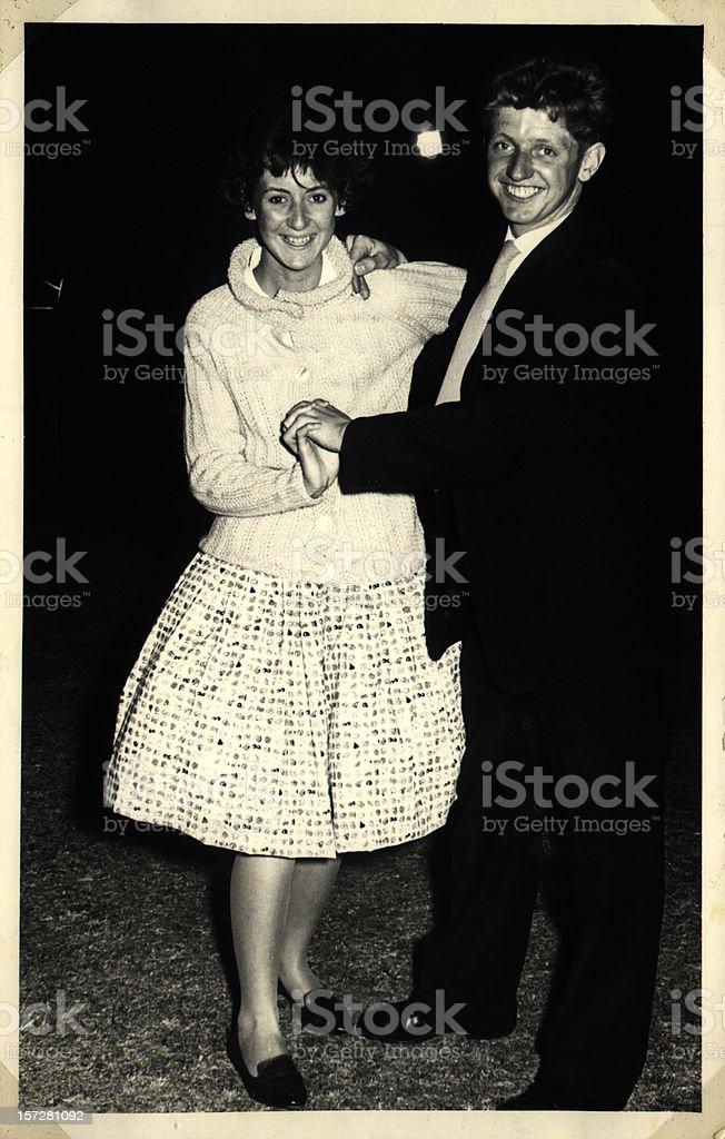 Happy dancing couple royalty-free stock photo