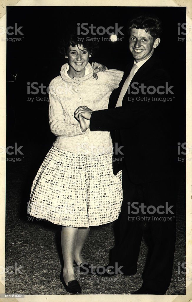 Happy dancing couple stock photo