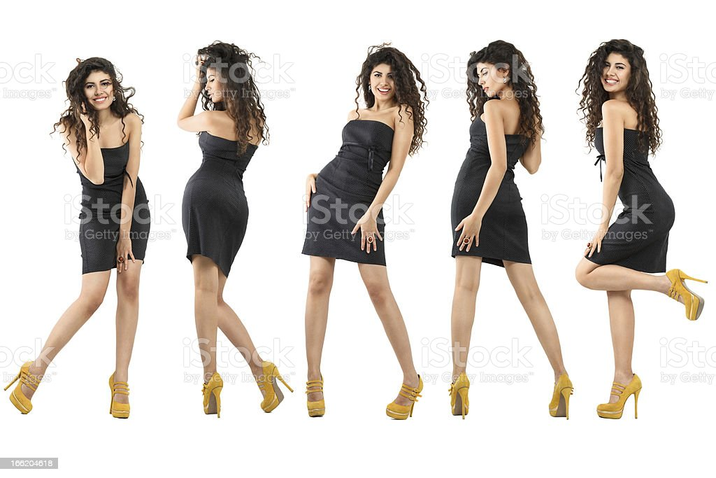 Happy dancing girls royalty-free stock photo
