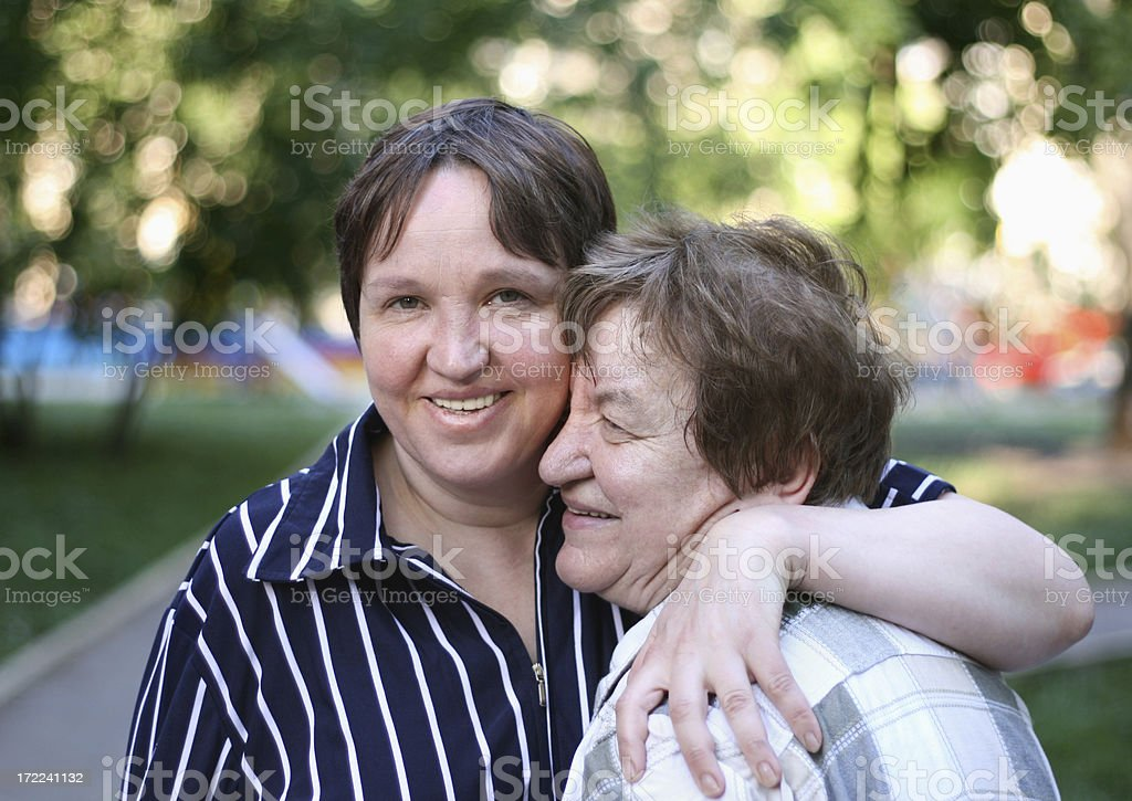 happy daughter and mother royalty-free stock photo