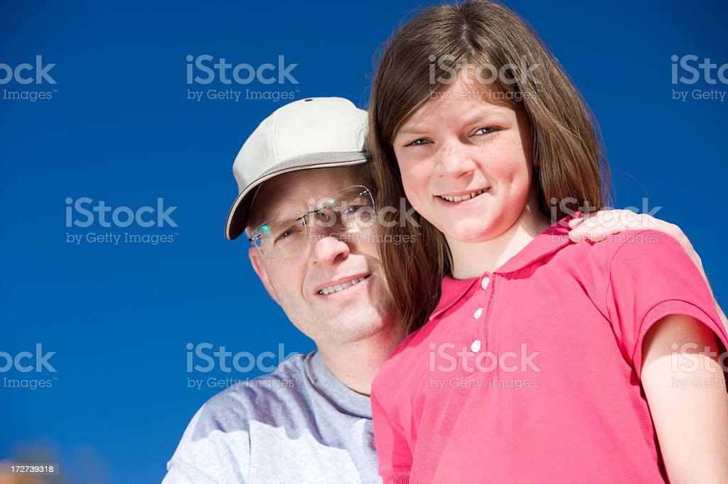 Happy Daughter Father Portrait royalty-free stock photo