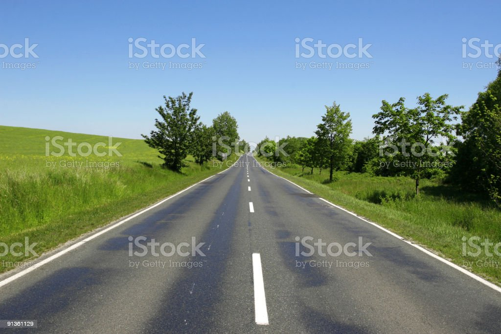 Happy day road royalty-free stock photo