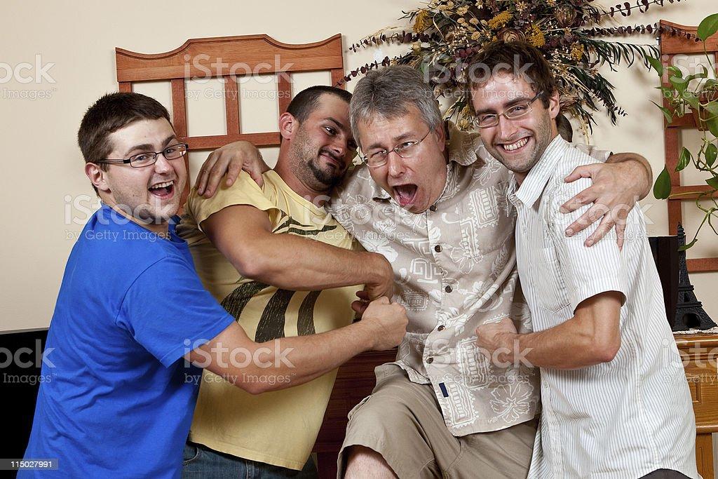 Happy Debt Collectors stock photo
