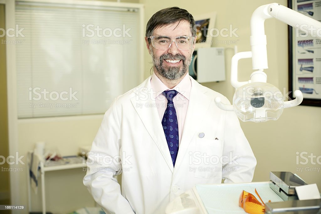 happy dentist royalty-free stock photo