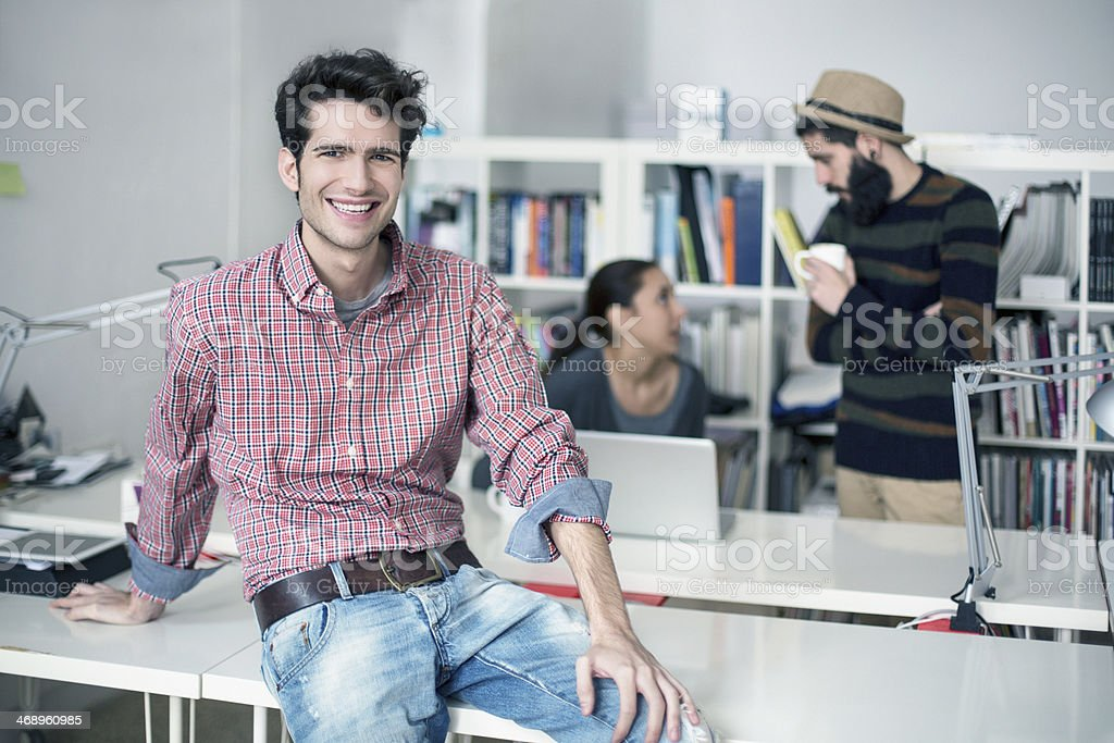 Happy designer royalty-free stock photo